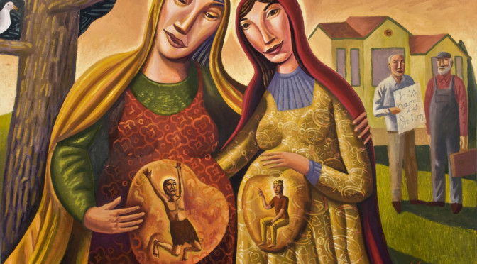 Connection at the Cradle's Edge [OR Two Women Preaching a Shared Vision] Luke 1:39-55